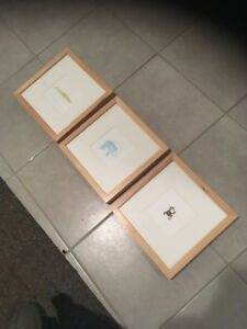 framed pictures for baby/child room
