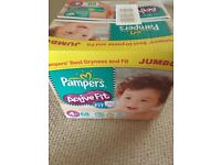 Pampers active fit size 4 nappies jumbo box x 68