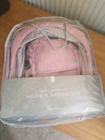 Pushchair hood and apron silver Cross