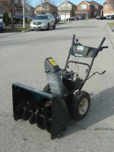 "QUICK SALE $275.00 FOR THIS 26"" YARD MTD 8HP SNOWBLOWER IT RUNS!"