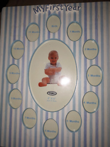 Baby boy first year pic frame