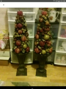 FRUIT TOPIARY TREES SET OF 2