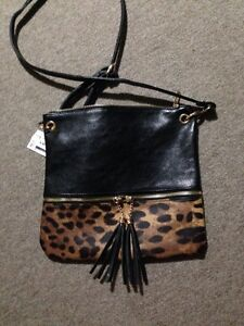 New with tags leopard purse