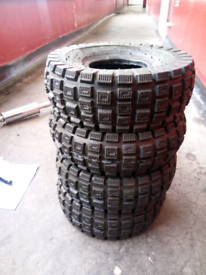 4 Brand new 49cc ATV Quad tyres for sale  Johnstone, Renfrewshire