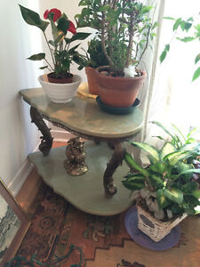 MAGNIFIQUE VINTAGE TABLE EN MARBRE - GREEN MARBLE TABLE ANTIQUE