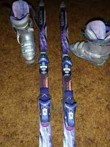 Women's Saloman Skis and boots size 9