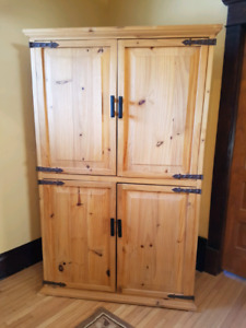 Solid wood armoire, media center for sale