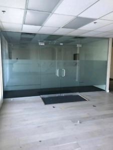 """12mm glass wall for a opening of 16' wide X 8'10"""" height includi"""