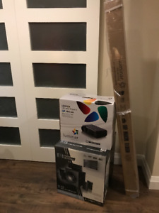 New Luminar Projector box, Screen, and Surround Sound System