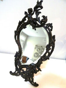 Paris VANITY MIRROR 1878 cherubs PUTTI French Baroque Courtier
