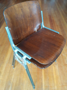 Retro 60's Side / Dining / Office stacking designer chairs