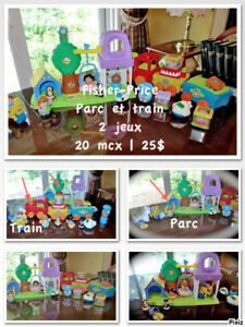 Fisher-Price Parc et Train Blocs Motorisé 2 jeux Complets 20 mcx
