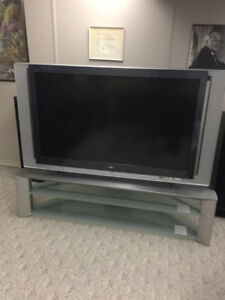 """55"""" Sony TV and stand"""