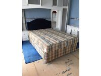 Double Bed with Mattress & Headboard £60