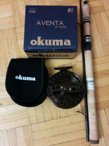 "G LOOMIS STEELHEAD ROD 8'6"", AVENTA CENTERPIN REEL, FLOAT ROD"