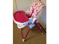 Cosatto Noodle Supa Dilly Dolly High Chair (Highchair) like new