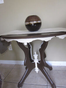 Antique Hand Made Solid REAL Maple Wood Table