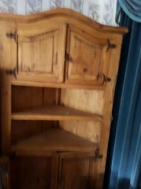 Rustic Mexican Pine Corner Unit