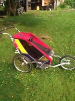 Chariot Cougar jogging stroller with bike attachment