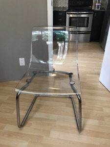 TOBIAS Clear Ikea chair