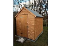 8X6 FULLY TREATED 16-17MM T&G SHED, £439