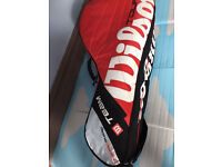 A quality pro tennis racket bag with multiple pockets,immaculate, bargain at only £45