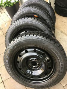 4 Goodyear Nordic winters with rims Toyota Camry 205 55 16