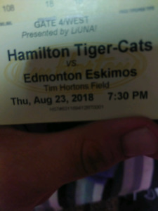 Ticats Tickets for aug 23erd