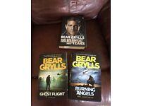 3 x Bear Grylls Hard Back Books~ 1 Autobiography 2 Novels VGC