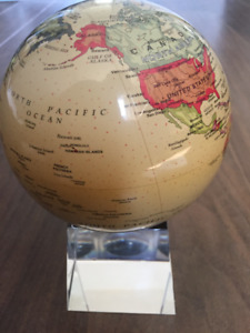 Mova Globe Antiqued with crystal base.  New in box.
