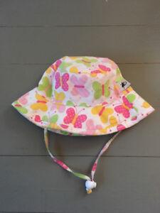 Puffin Gear Sun Hat -butterfly print (XS) 12-24 months