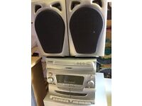 CD Player 3 Disc and twin cassette with speakers