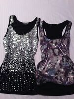 Sparkly tank tops - Size Small!
