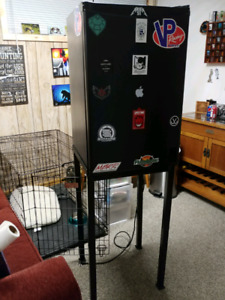 Mini fridge for sale with stand. $75