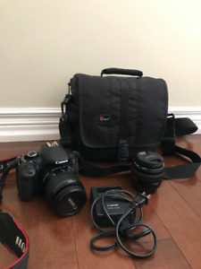 Canon EOS Rebel T4i DSLR + 2 Lenses- Great Condition