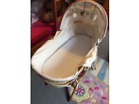 Moses Basket with stand & bedding