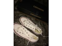 New White Converse Size 3/4