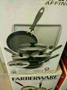 9+10pc cooking set nonstick brand new