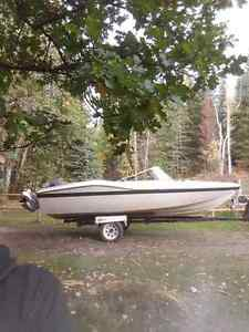 17.5 boat with 85hp johnson