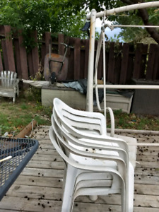 Resin outdoor chairs