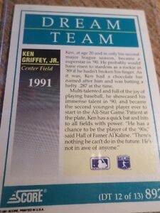 1991  KEN GRIFFY Jr. CARD   (VIEW OTHER ADS) Kitchener / Waterloo Kitchener Area image 2