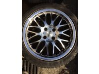 4x100 16x7 Dotz split rim BBS replica alloy wheels drift VW Mazda Honda Vauxhall golf corsa civic
