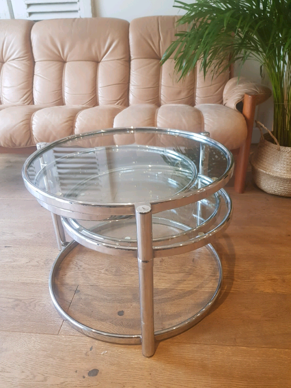 85ca91484e9 Milo Baughman 60s chrome coffee table
