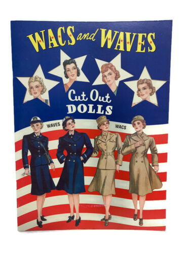 Wacs and Waves Cut Out Dolls 2001 B. Shackman Company Uncut American Military