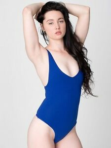 Blue American Apparel bodysuit