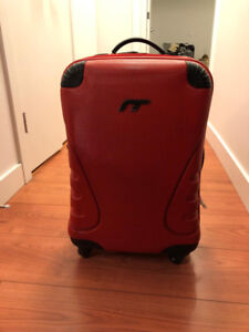 Red carry on luggage for $30