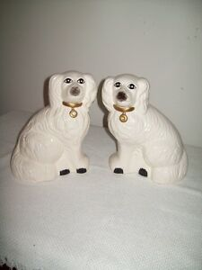 VINTAGE REPRODUCTION STAFFORDSHIRE DOGS LARGE
