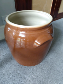French stoneware crock bread bin
