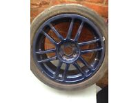 Mint blue alloys 20 inch alloys with 3 part worn tires included not tires on photos