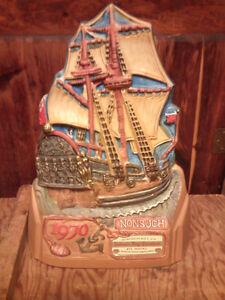 Vintage boat shaped whisky decanter